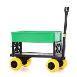 PLUS ONE GARDEN CADDY CART (YELLOW WHEELS & GREEN TUB))