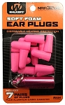 WALKERS NEON PINK FOAM PLUG W/ PINK ALUMINUM CARRY CANISTER (7 PAIRS)