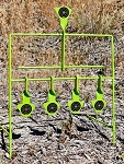 .22 CAL HANDS FREE, AUTO RESETTING 5 SHOT TARGET STAND