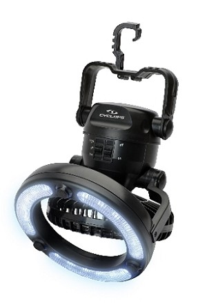 CYCLOPS PORTABLE FAN LIGHT 18 LED INTEGRATED HOOK