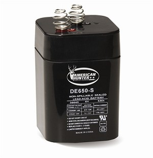AMERICAN HUNTER 6 VOLT 5 AMP HR RECHARGEABLE LANTERN BATTERY