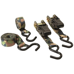 CAMOUFLAGE RATCHET TIE DOWN-2 PACK