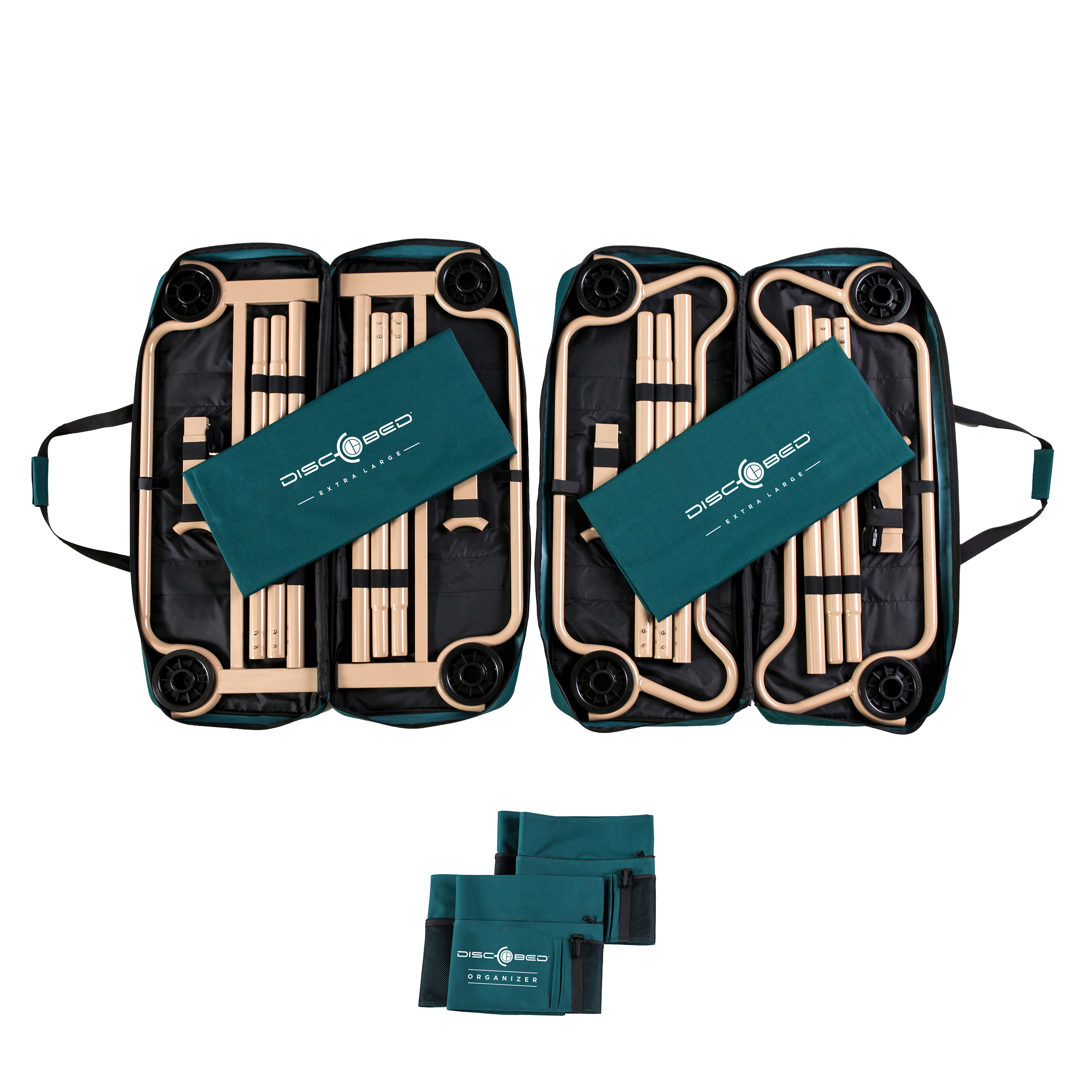 Disc O Bed Extra Large With 2 Side Organizers