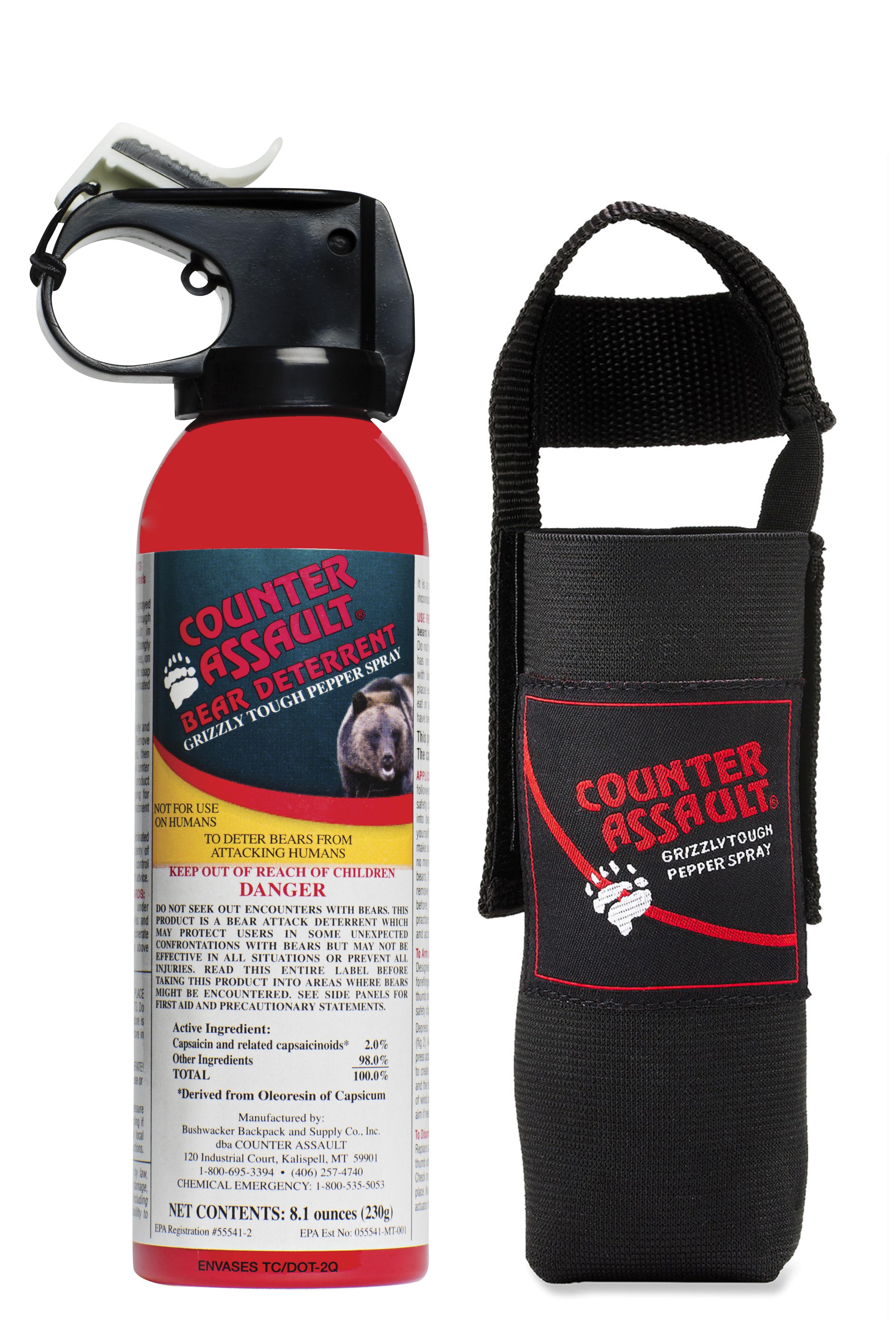 Counter Assault 174 8 1 Oz Bear Spray W Belt Holster