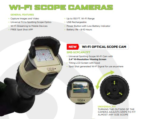 WiFi SPOT SHOT SPOTTING SCOPE CAMERA LCD SCREEN