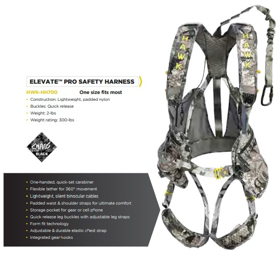 Hawk Elevate Pro Harness Chaos™ Camo