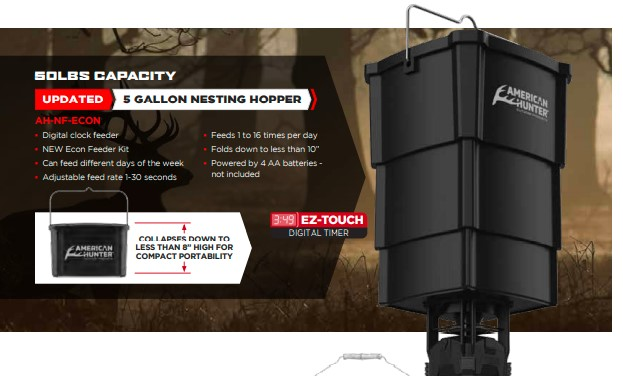 American Hunter 5gal Hopper Collapsible w/ Economy Feeder
