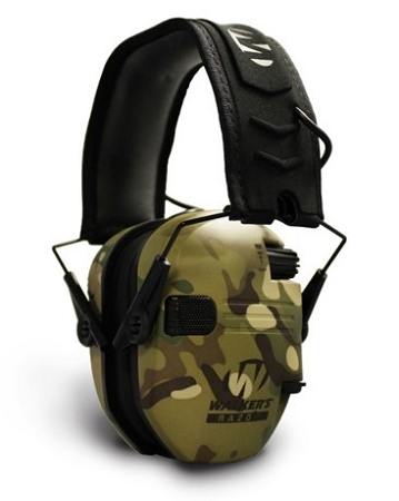 Walker's Razor Slim Electronic Muff - Multi-Camo/Tan
