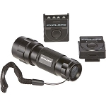 CYCLOPS 14 LED FLASHLIGHT W/2 HAT CLIP LIGHTS