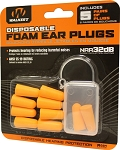 Walker's Disposable Foam Ear Plugs - 10 Pack