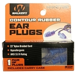 Walker's Blue Ear Plugs with Blue/Yellow Cord