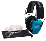 PACK'N HEAT CHROME PLATED ELECTRONIC HEARING EAR MUFF & EYE PROTECTION (TURQUOISE)