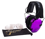 PACK'N HEAT CHROME PLATED ELECTRONIC HEARING EAR MUFF & EYE PROTECTION (DARK PURPLE)