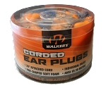 WALKERS FOAM EAR CORDED PLUGS - 50 PAIR JAR