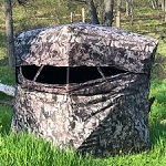 MUDDY Infinty 2 Man Portable Hunting Blind - Shadow Mesh Quiet Window System