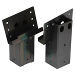 Elevator 4 x 4 Steel Blind Post Brackets /  Black Powder Coating /  4 Pack