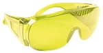 WRAP-AROUND SPORT SHOOTING GLASSES - AMBER