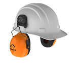 Walker's Safety Universal Hardhat Clip On Passive Muff