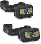 CYCLOPS 250 Lumen  Conductive Touch Headlamp (2 Pack)