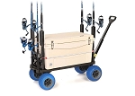 PLUS ONE FISHING/COOLER CADDY CART (BLUE WHEELS)