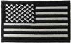 US FLAG BLACK PATCH w/ ADHESIVE