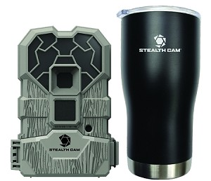 STEALTH CAM QS12 10 MP NO GLO TRAIL CAMERA & TUMBLER COMBO (OUTFITTERS BUNDLE 6 PACK)